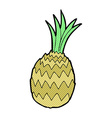 comic cartoon pineapple vector image vector image
