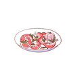 cooked shrimp isolated icon vector image vector image