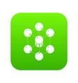 cube molecule icon green vector image