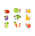 cute little children having fun and playing vector image vector image