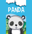 cute panda in forest cartoon vector image vector image