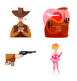 design wild and west symbol collection vector image vector image