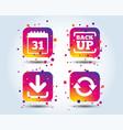 download and backup signs calendar rotation vector image vector image