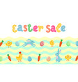 easter sale cute banner with colored ornate eggs vector image vector image