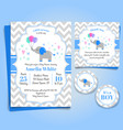 Elephant baby shower invitation birthday party