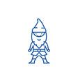 elf line icon concept elf flat symbol vector image