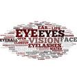 eye word cloud concept vector image vector image