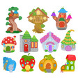fantasy house cartoon fairy treehouse and vector image