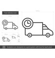 fast delivery line icon vector image vector image