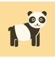 flat icon stylish background Panda bear vector image
