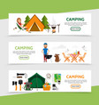 flat outdoor recreation horizontal banners vector image