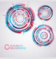 futuristic round elements set vector image vector image