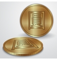 gold coins with Chinese Yan currency sign vector image vector image