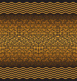 golden seamless pattern with wavy lines and balls vector image
