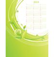 Green Eco Calendar 2014 vector image