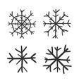 hand drawn snowflake icon snow flake sketch vector image vector image