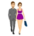 happy blonde woman with her boyfriend vector image
