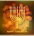 happy hanukkah typography vector image vector image