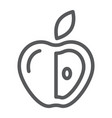 healthy diet line icon fruit and nutrition apple vector image