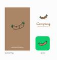 hot dog company logo app icon and splash page vector image
