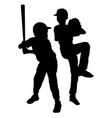 kids baseball players vector image vector image