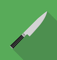 Knife in flat style vector image vector image