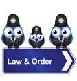 LAW ORDER SIGN vector image vector image