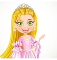 Lovely little princess in a tiara and a pink ball vector image vector image