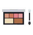make up case with shadows and blush icon flat vector image vector image