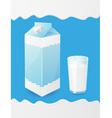 milk packaging vector image vector image