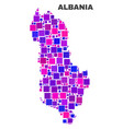 mosaic albania map of square elements vector image vector image