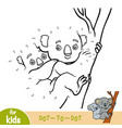 numbers game education game for children koala vector image vector image