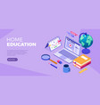 online distance education technology from home vector image