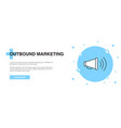 outbound marketing icon banner outline template vector image