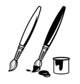 paint brush icons vector image vector image