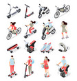 personal transport isometric set vector image vector image