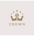 premium royal crown logo icon vector image vector image