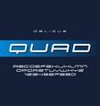 quad oblique futuristic sports typeface vector image vector image