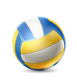 realistic volley ball for betting design vector image vector image