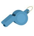 referee whistle isolated vector image vector image