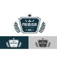 Royal vintage premium logo badge icon template vector image
