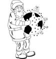 Santa Claus with globe vector image