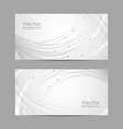 set horizontal banners with curves and dots vector image vector image