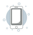 smartphone and business vector image vector image