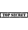 Stamp top secret vector image vector image