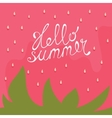 Strawberry Hello summer card vector image vector image