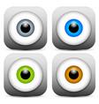 stylish eye icons vector image vector image