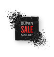 super sale banner - 50 special offer layout with vector image vector image