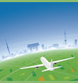 tokyo skyline flight destination vector image vector image