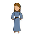 virgin mary cartoon vector image vector image